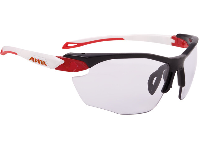 Alpina Twist Five HR VL+ Cykelglasögon röd/vit